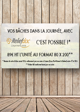 impression bache reliefdoc toulouse