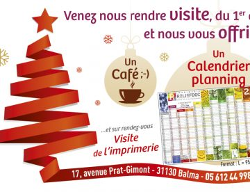 Offre Noël Reliefdoc - Calendrier - Bloc-notes