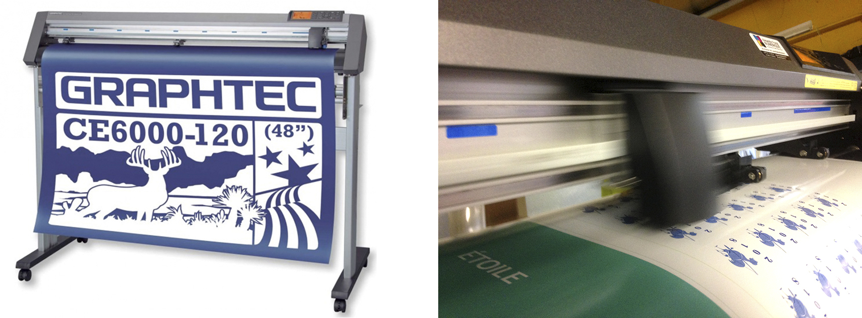 plotter et detail machine